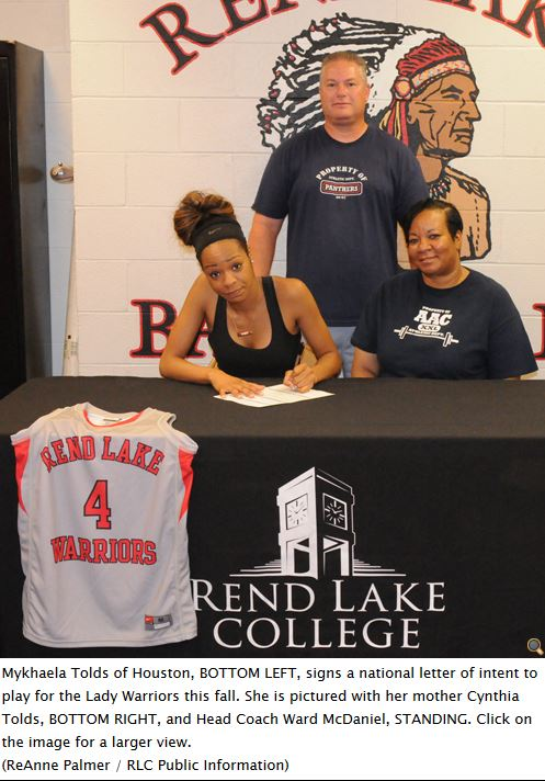 RLC women's basketball signs Houston standout Mykhaela Tolds