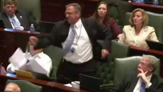 State Rep. Mike Bost's 'rant' at the Illinois General Assembly has now become campaign fodder in his bid for Congress.