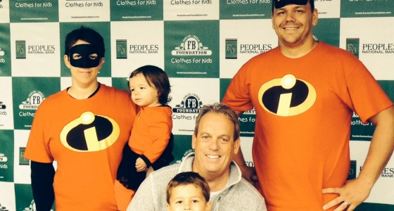 "The ""Incredibles"" were recognized for ""Best Team Costume"" at Integrated Health's Run/Walk on October 11 benefiting the Fowler Bonan Foundation.  Along with foundation co-founder Dale Fowler, pictured are ""Elastigirl"", ""Violet"", ""Dash"", and ""Mr. Incredible"", better known as Amanda and Jarred Carter, daughter Madelyn, and son Aidan, from West Frankfort."