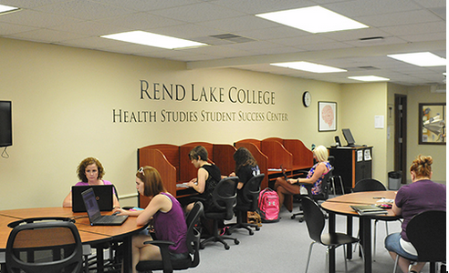 RLC students enrolled in any Allied Health program can visit the Health Studies Student Success Center (HSSSC), located in the Learning Resource Center, to focus on their studies and use special medical equipment. The HSSSC is a great resource for students to get additional experience and extra study time.