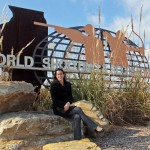 Monica Brachman at the gates of the World Shooting Complex in Sparta.  (Southern Illinoisan Photo)