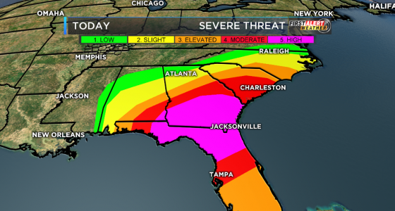 channel 12 graphic severe weather SE us