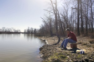Ray Wheeler of Sesser on the banks of Reece Creek by DuQuoin