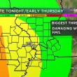 Two rounds of severe weather in the next 36 hours