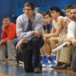 Coach Gillespie on the sidelines.  (Ann Beckett, Marshall County Daily photo)