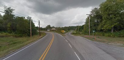 View of St. Route 149 going east to west. Growing up in Thompsonville, I more than realize the danger of this intersection. I am glad some reconstruction will be done to it. -sd (Google Maps image)
