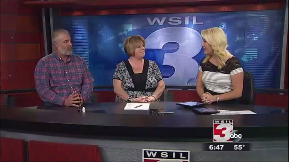 Kevin Smith (left) and Renee Anderson (center) discuss the drama with News 3 This Morning anchor Callie Carroll