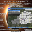 Heat indicies approaching triple digits this weekend…mostly sunny for eclipse