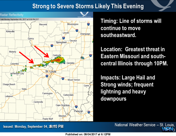 Update on the possible severe weather situation - Benton