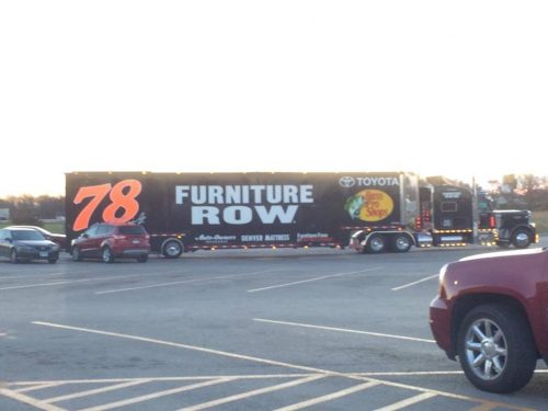 Martin Truex Car Hauler At Benton West City Walmart Benton West