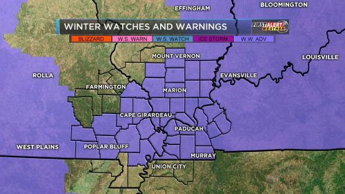 Winter Weather Advisory For All Of Southern Illinois Benton West