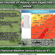 Enjoy today…..a wet work week ahead….chances of mixed precip out of the forecast